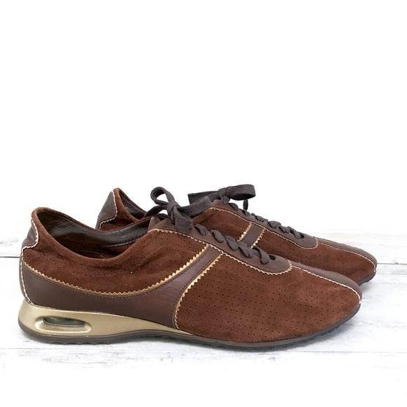 Cole Haan Nike Air Brown Leather Suede Sneakers. M 5b904bbb9e6b5bd6bd976f6d 73da30e5c